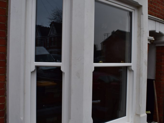 Traditional Hardwood Bay Window